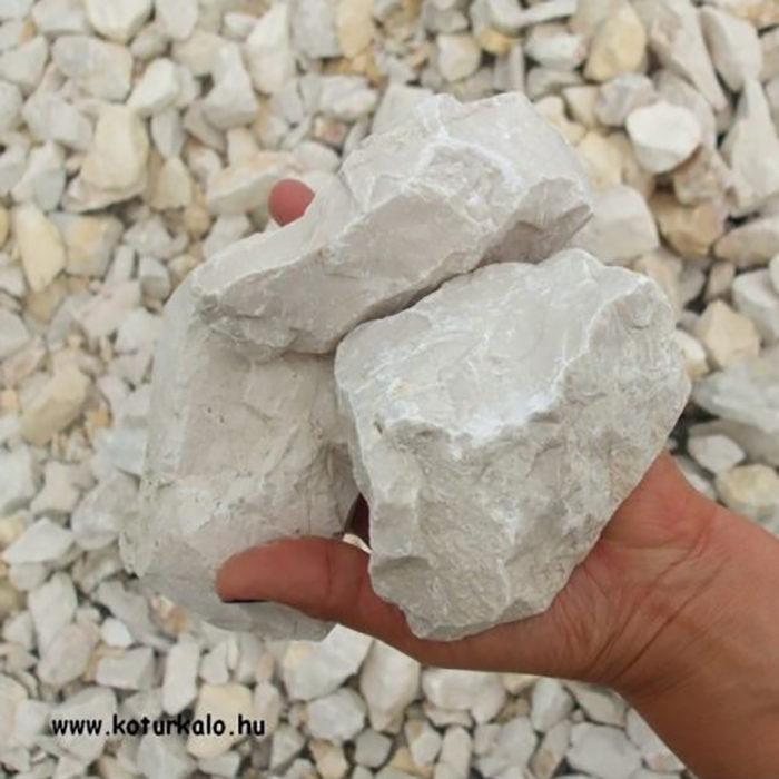 Fehér zúzott kő 50-150 mm