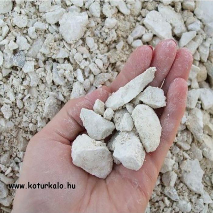 Fehér zúzott kő 0-20 mm