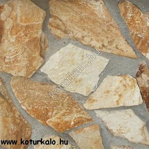 Őszibarack gneisz – szabálytalan burkolókő
