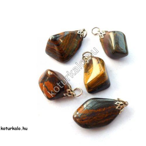 Szalagos jáspis ásvány medál