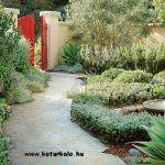 Horvát mészkő tipegőből kitett kerti ösvény
